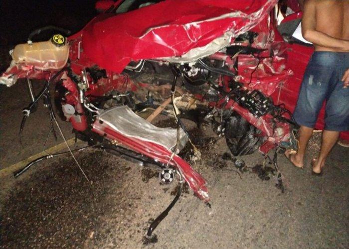 Pastor morre após colisão entre três carros e uma motocicleta