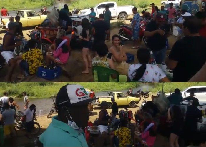 São Bento registra  aglomerações na feira livre e debaixo da ponte do Rio Piranhas